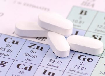Zinc Pill on Periodic Table of Elements